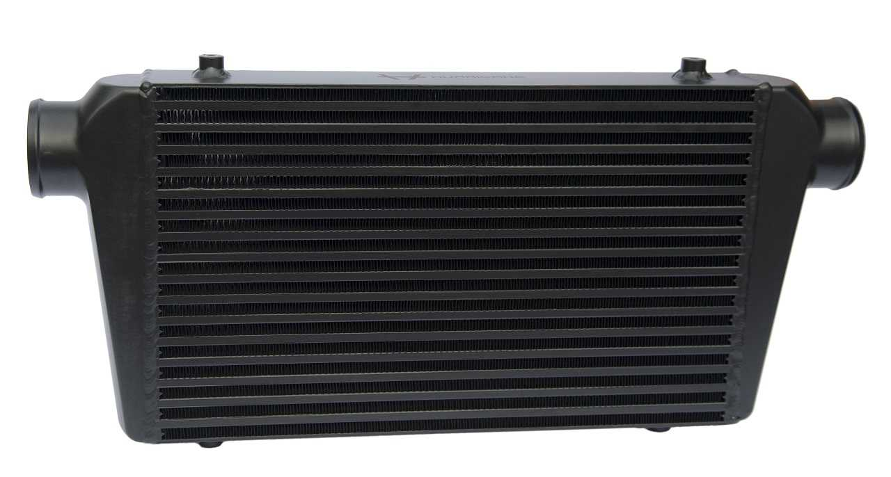 "Hurricane Intercooler Black 3"" connections (68cm wide)"