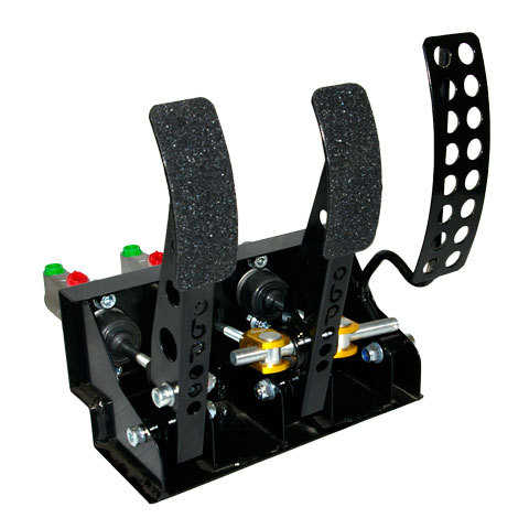OBP Floor mounted pedal box 3 pedals 3x master cylinders V1