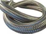 Steel spun hose protection
