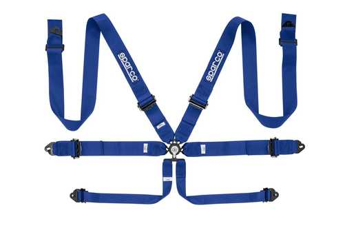 Sparco 6pt Safety harness blue