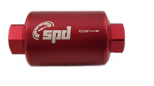 SPD Fuel filter compact 10 micron E85 red