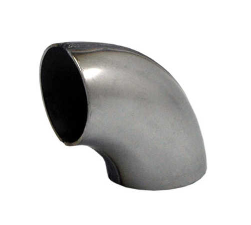 Short radius bent tube 3,5 inch SS (89mm)